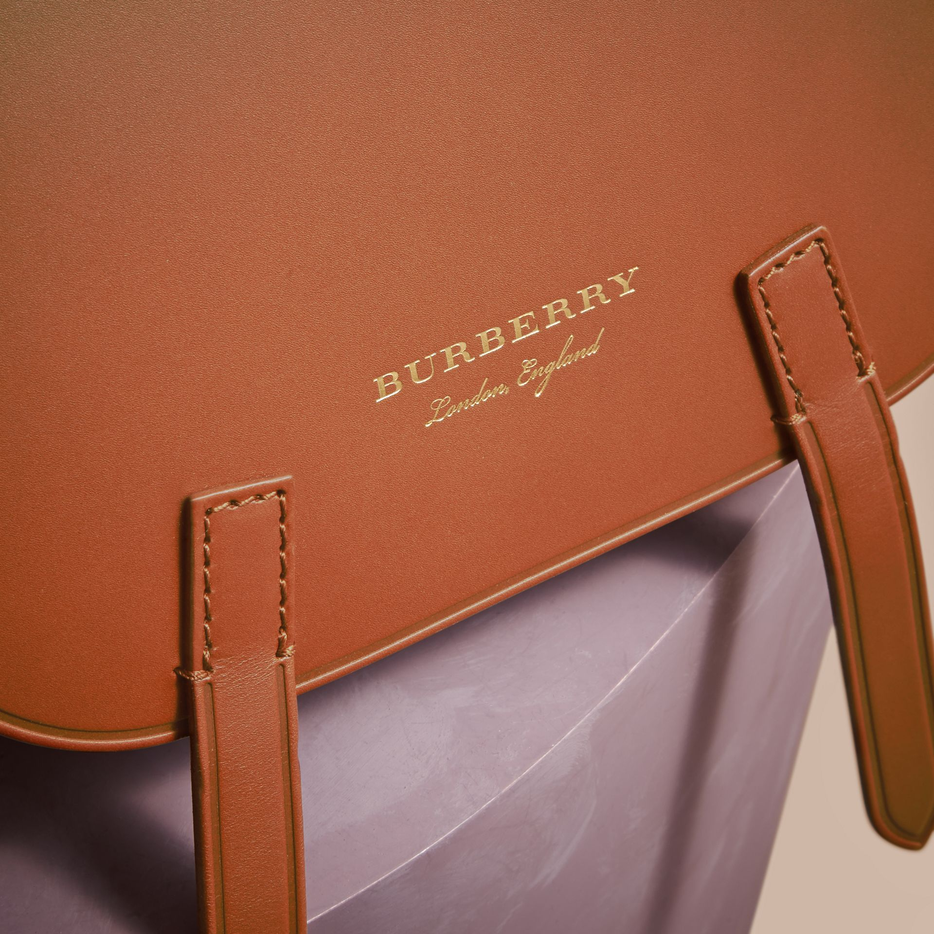 The Bridle Bag in Leather and Haymarket Check - Women | Burberry - gallery image 2