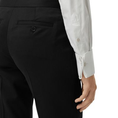 63734aa6db De En Burberry Pantalones negro Mujer Corte Recto Vestir Lana ICWWdwfq