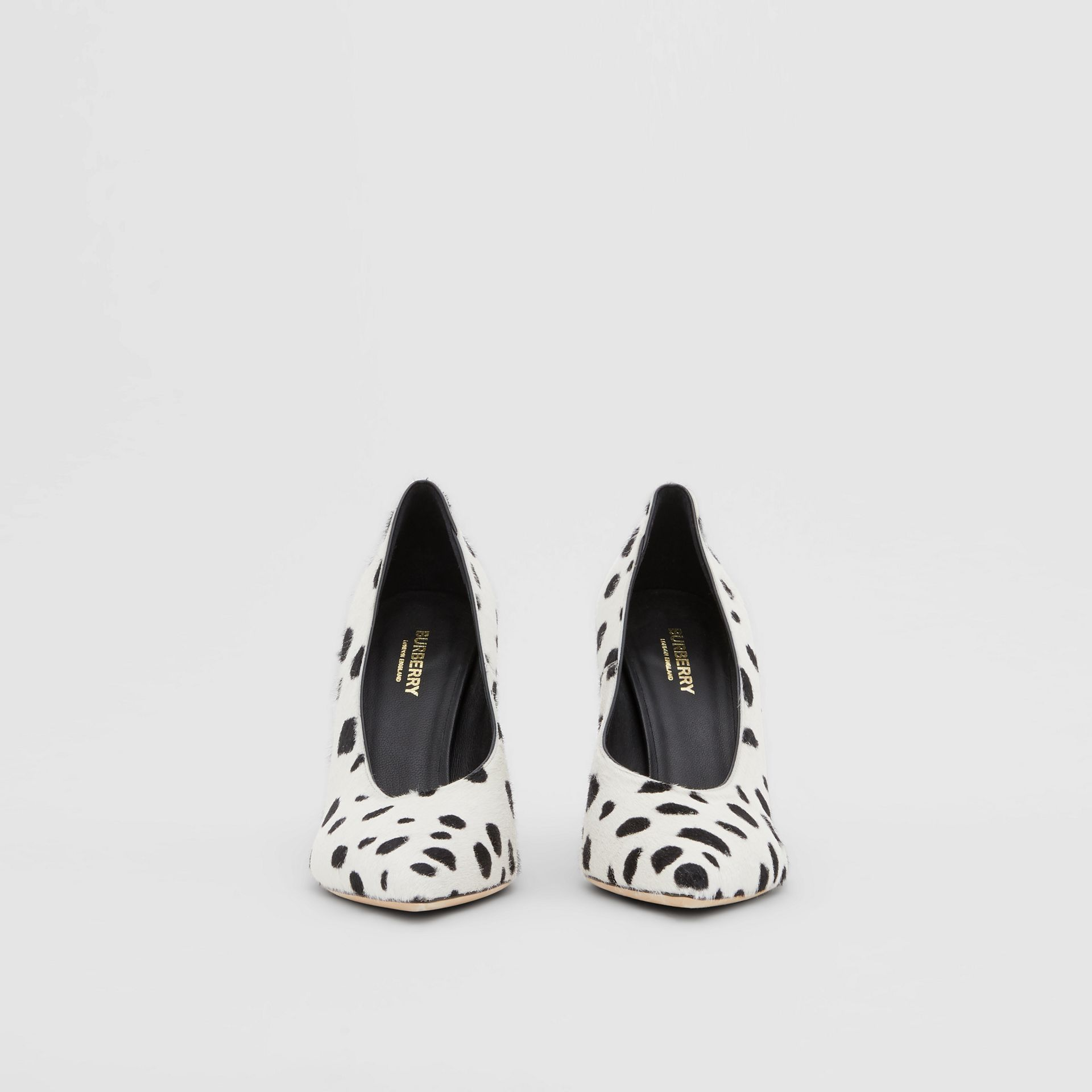 Dalmatian Print Calf Hair Pumps in Optic White/black - Women | Burberry United Kingdom - gallery image 3