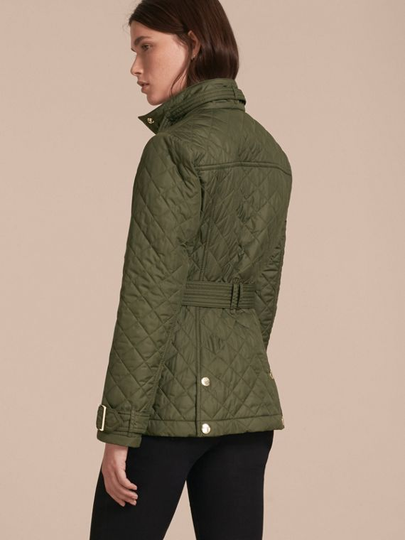 Buckle Detail Technical Field Jacket in Military Green - cell image 2