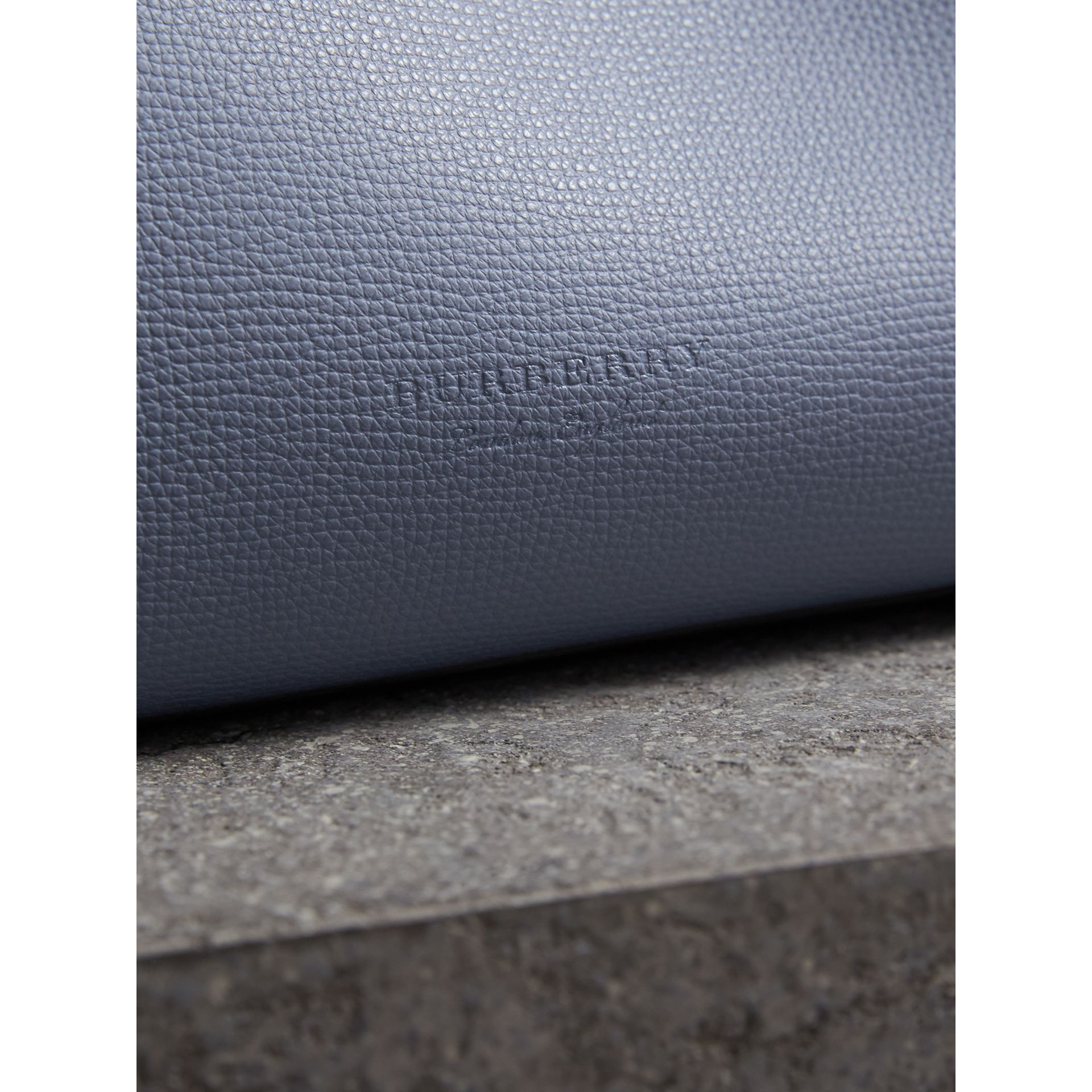 The Small Reversible Tote with Resin Chain in Slate Blue - Women | Burberry - gallery image 2
