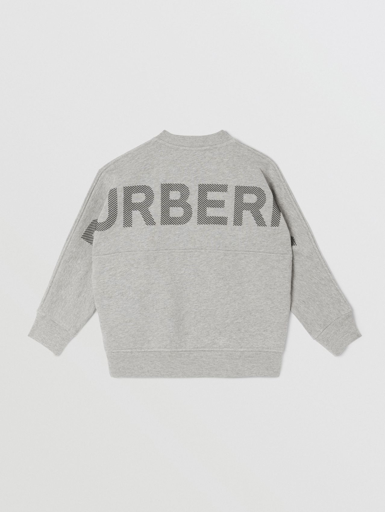 Logo Print Cotton Sweatshirt (Grey Melange/black)