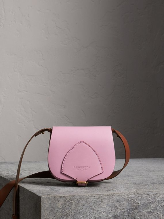 The Satchel in Leather in Pale Lavender