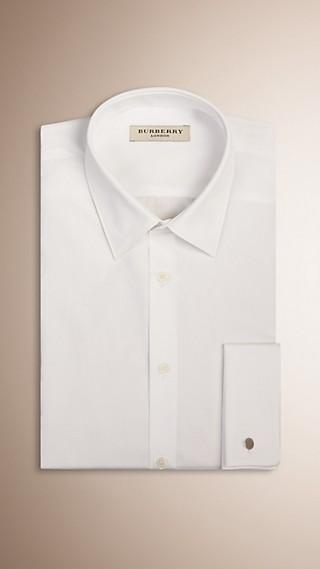 Slim Fit Double-cuff Cotton Poplin Shirt