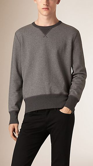 Sweat-shirt en coton bicolore