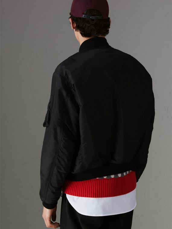 Nylon Bomber Jacket in Black - Men | Burberry - cell image 2