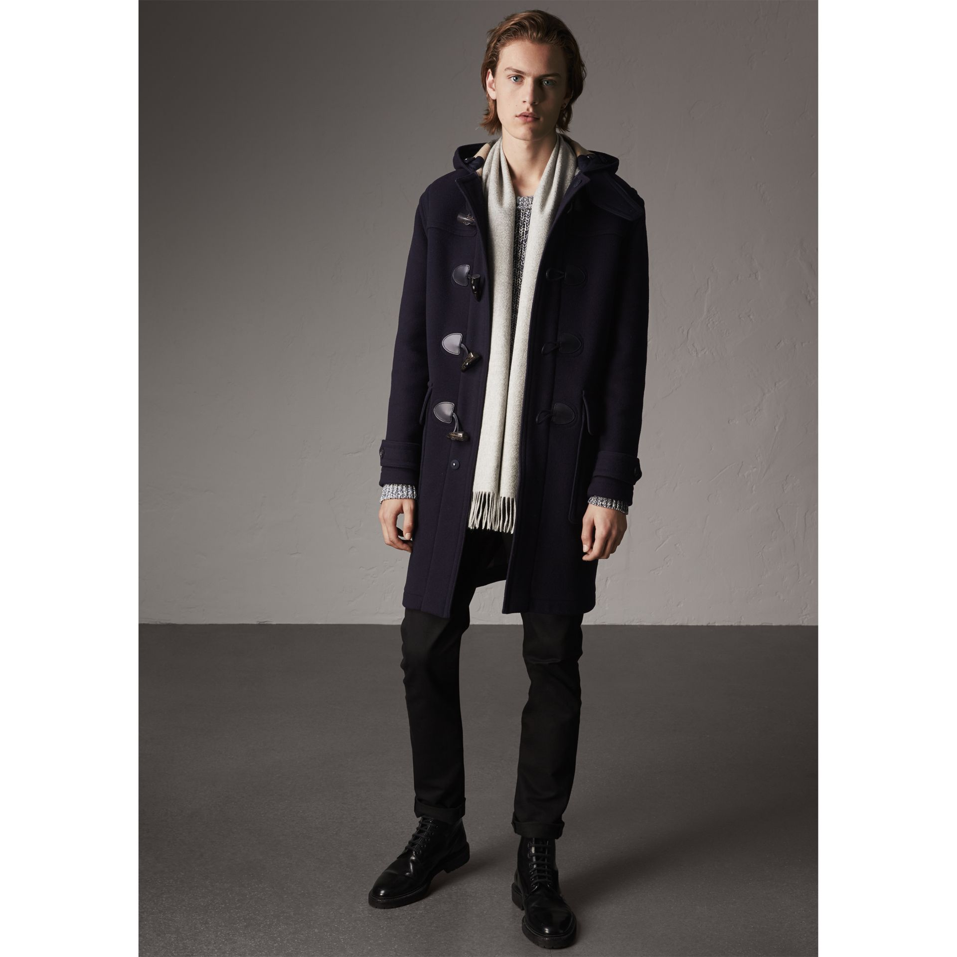 Wool-Blend Duffle Coat in Navy - Men | Burberry - gallery image 1