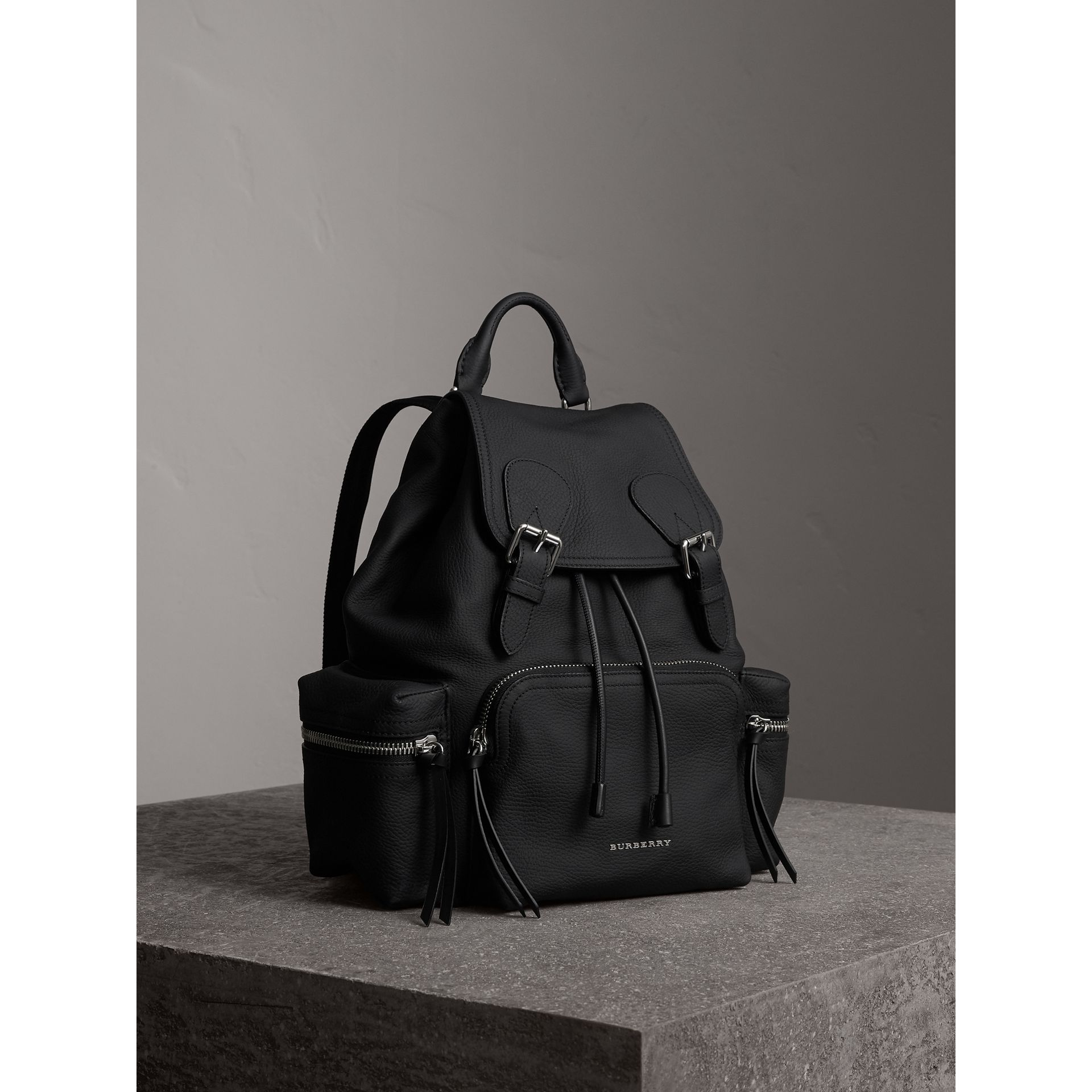 The Medium Rucksack in Deerskin with Resin Chain in Black - Women | Burberry - gallery image 7