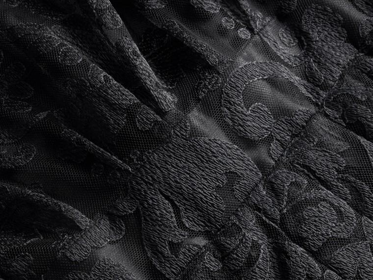 Noir Robe chemise en dentelle - cell image 1