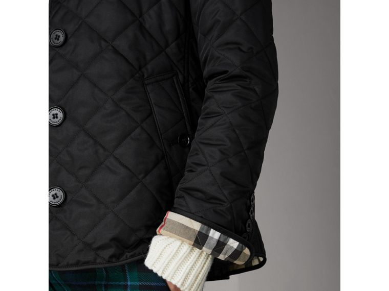 Diamond Quilted Jacket in Black - Women | Burberry Australia - cell image 4