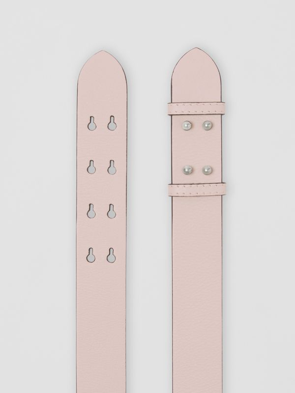 The Medium Belt Bag Grainy Leather Belt in Chalk Pink - Women | Burberry Australia - cell image 2