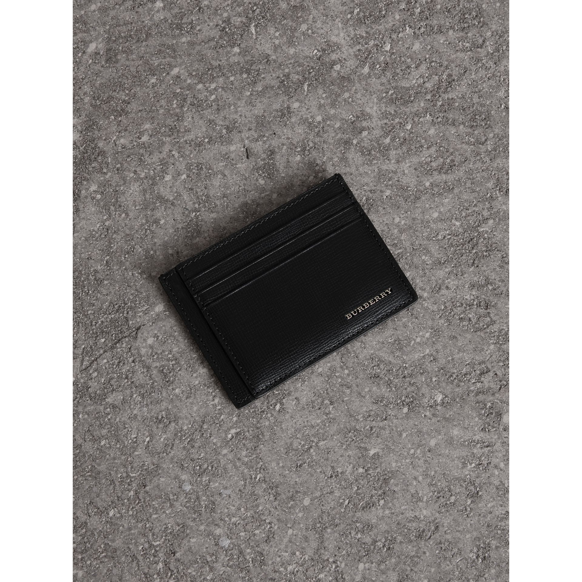London Leather Card Case in Black | Burberry Canada - gallery image 0