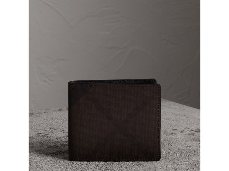 London Check International Bifold Wallet in Chocolate/black - Men | Burberry United States - cell image 4