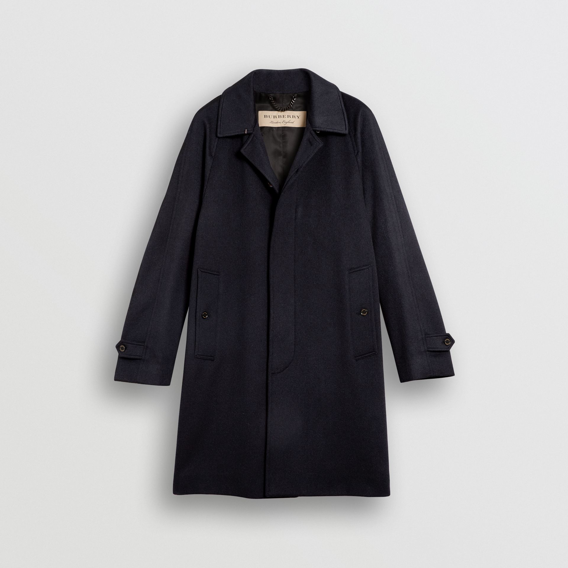 Cashmere Car Coat in Navy - Men | Burberry Australia - gallery image 3
