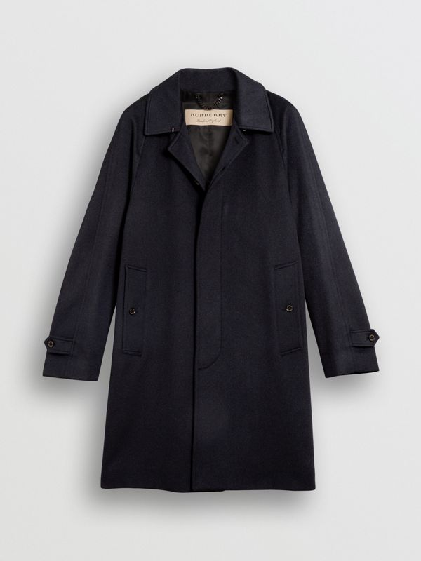 Cashmere Car Coat in Navy - Men | Burberry Australia - cell image 3