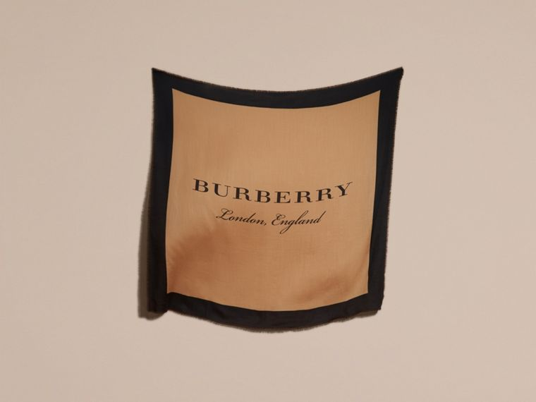 Camel/black Burberry Print Cashmere Scarf - cell image 4