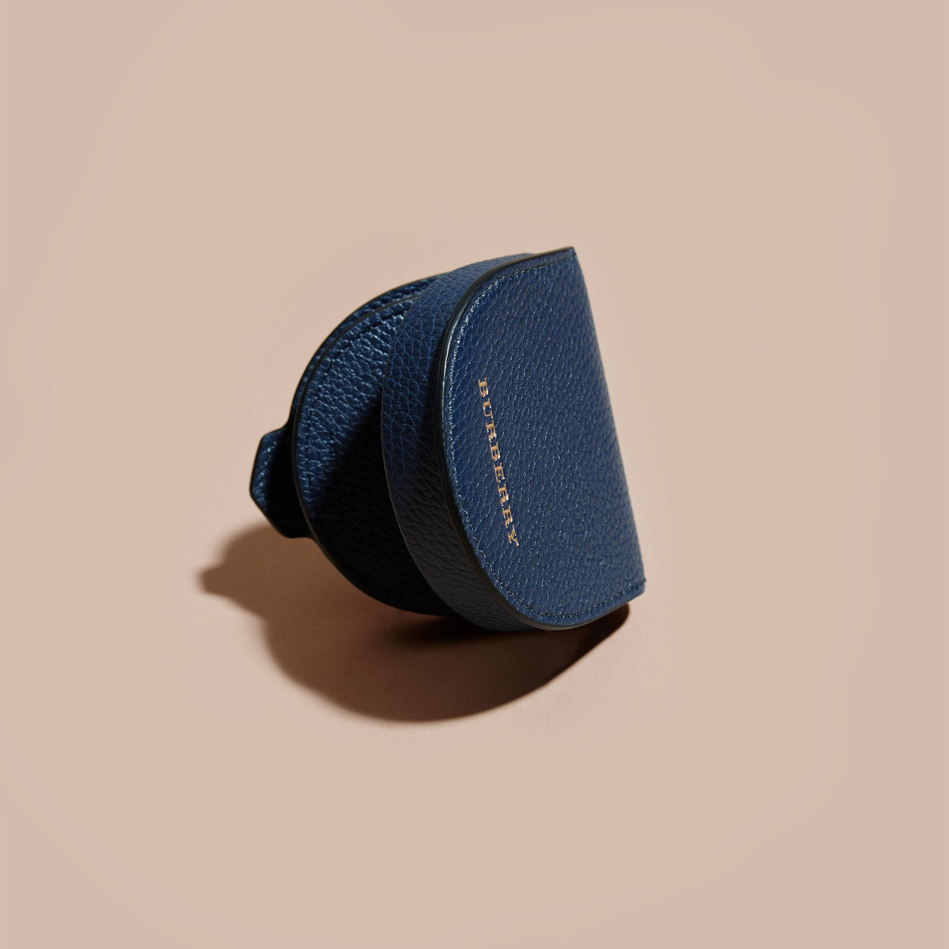 Bright navy Grainy Leather Coin Case Bright Navy - gallery image 3
