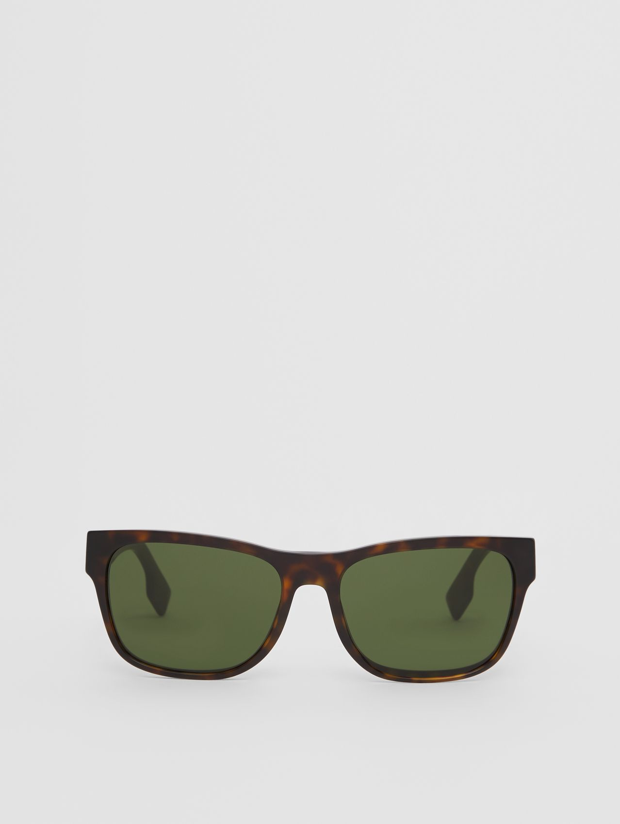 Logo Appliqué Square Frame Sunglasses in Tortoiseshell