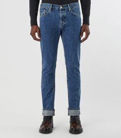 93a8d4db73c5 Straight Fit Stonewashed Jeans in Mid Indigo