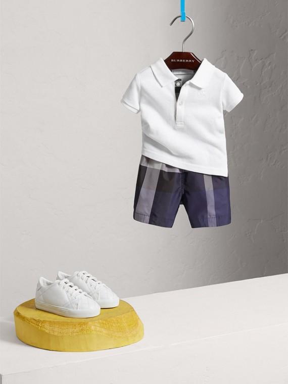 Poloshirt aus Baumwollpiqué (Weiss) | Burberry - cell image 2