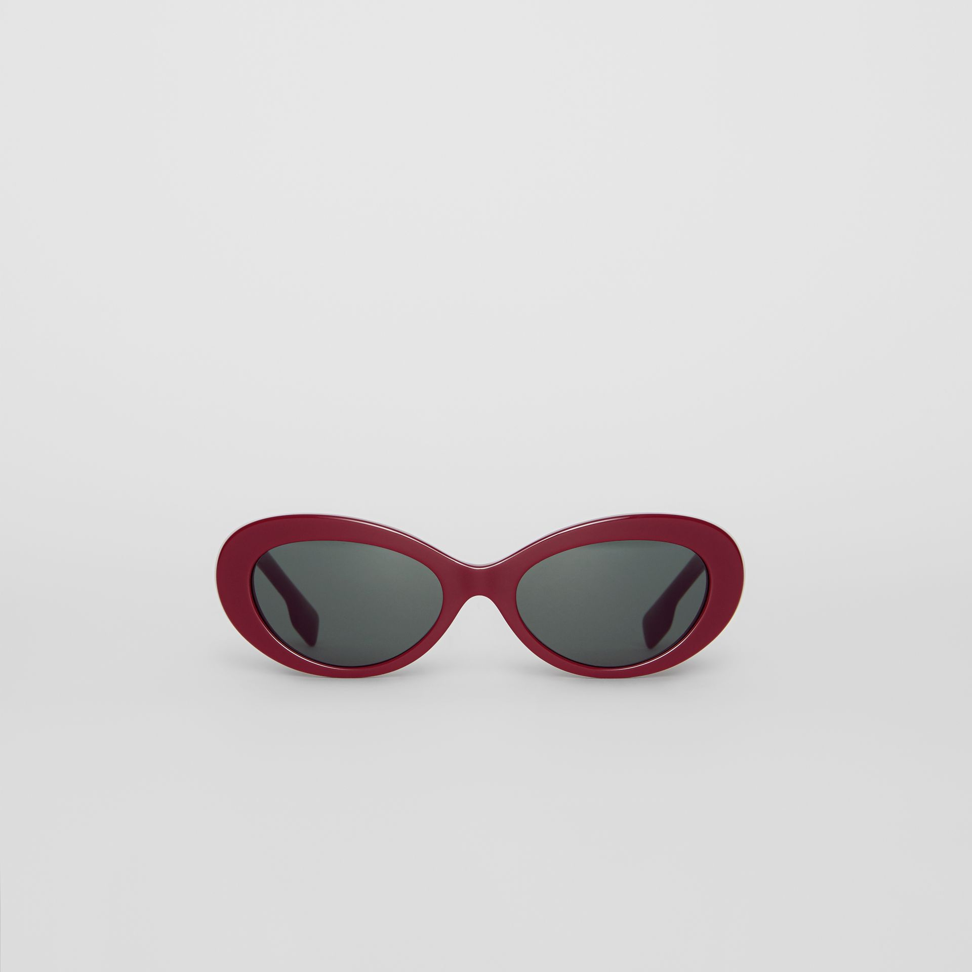 Cat-eye Frame Sunglasses in Burgundy - Women | Burberry - gallery image 3