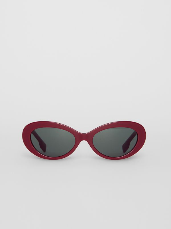 Cat-eye Frame Sunglasses in Burgundy - Women | Burberry United Kingdom - cell image 3
