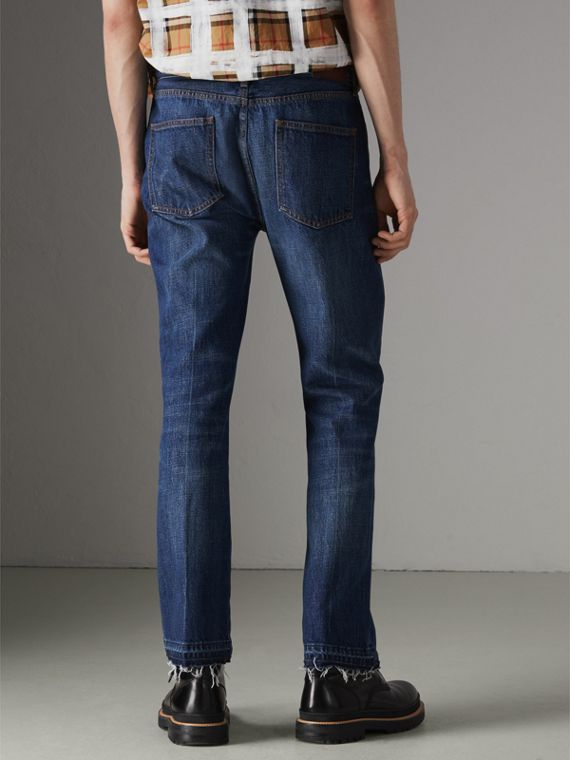 Slim Fit Bootcut Jeans in Indigo Blue - Men | Burberry United States - cell image 2