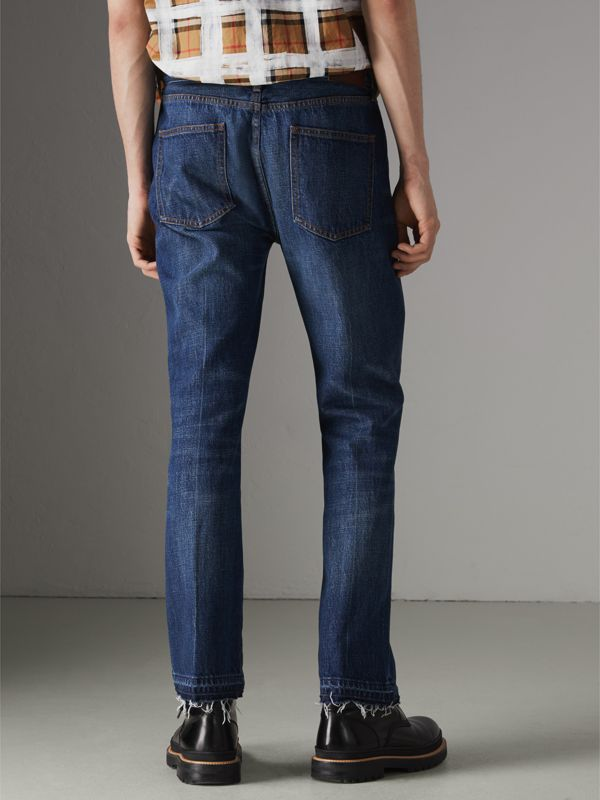 Slim Fit Bootcut Jeans in Indigo Blue - Men | Burberry - cell image 2