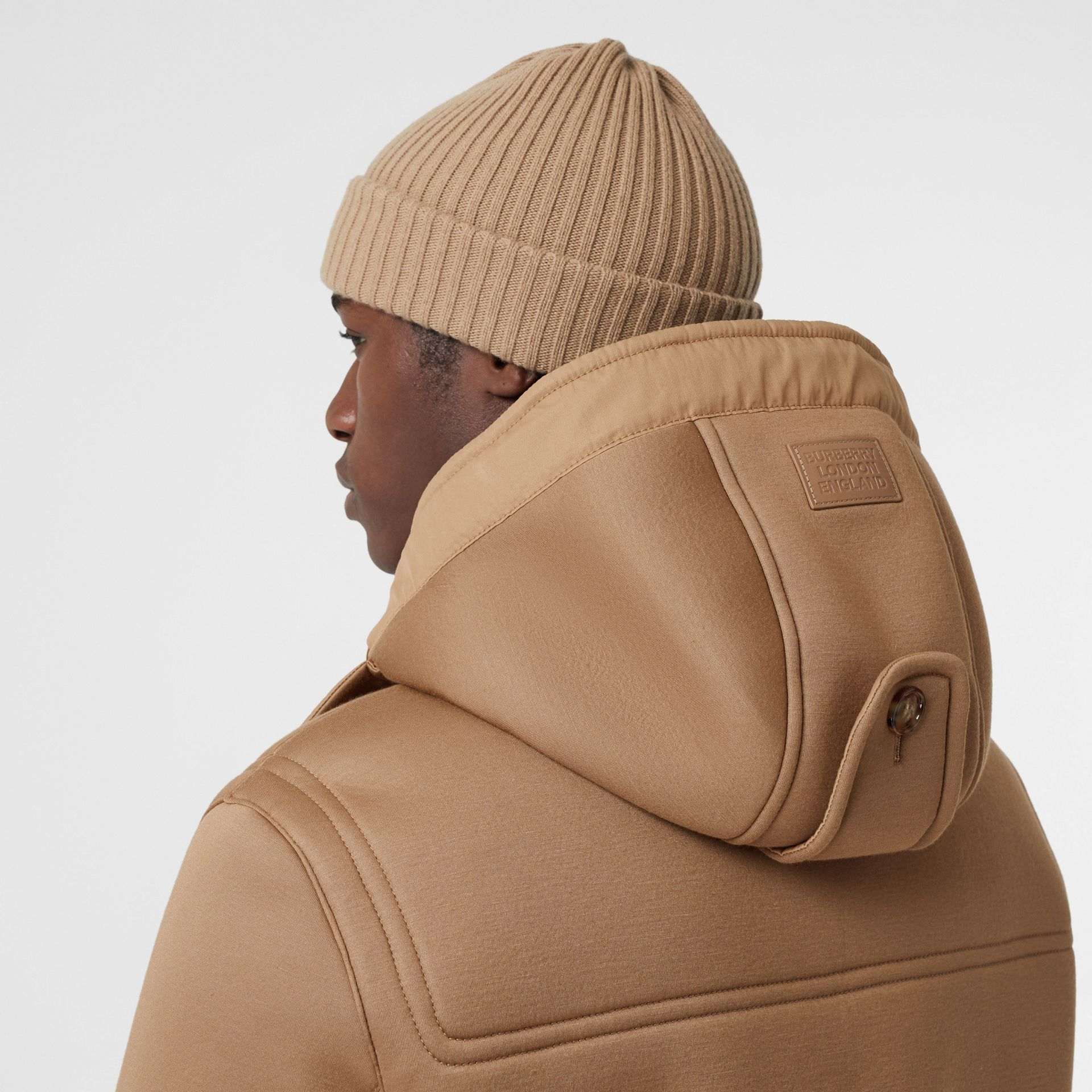 Reversible Neoprene and Shearling Hooded Duffle Coat in Warm Walnut - Men | Burberry - gallery image 3