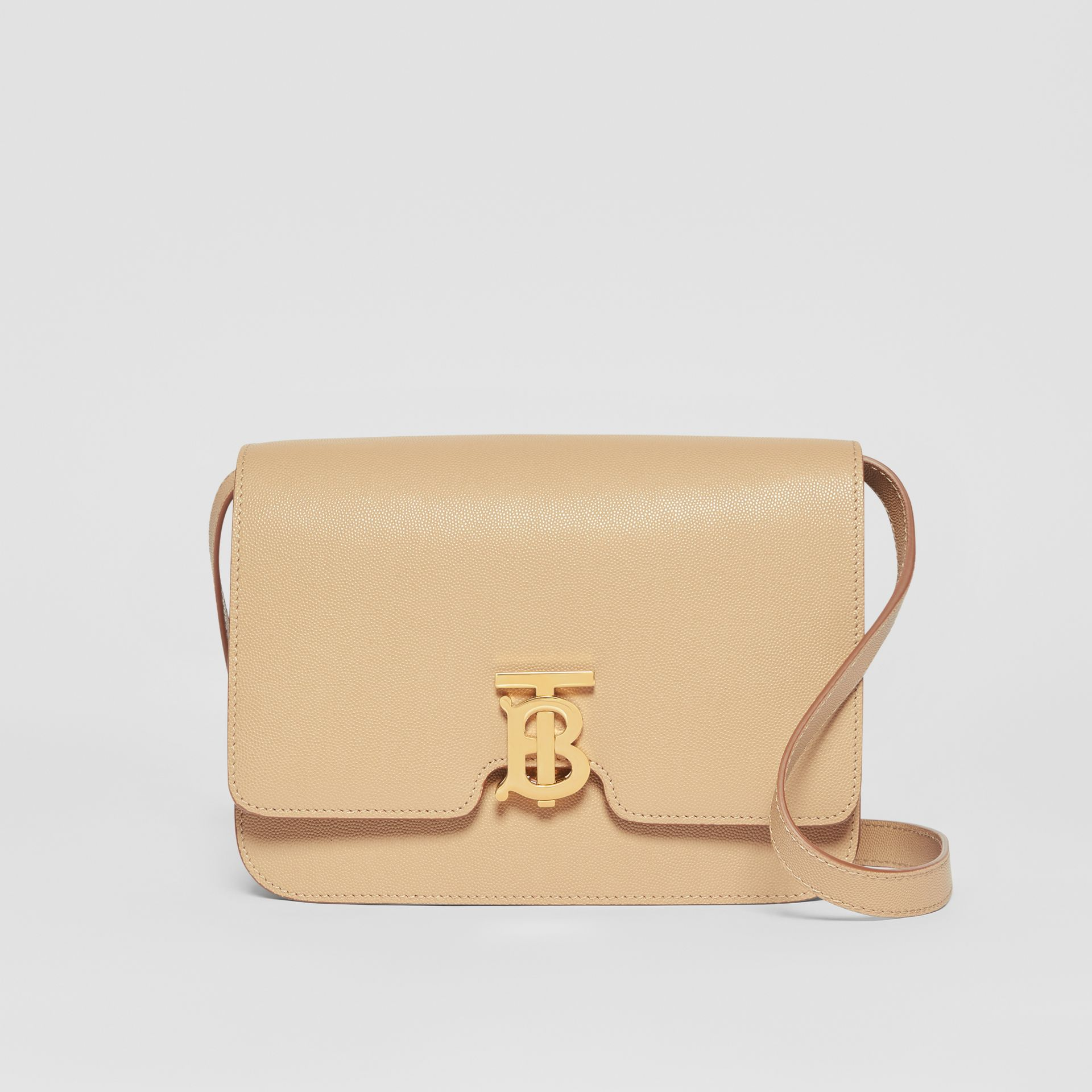 Medium Grainy Leather TB Bag in Archive Beige - Women | Burberry Australia - gallery image 0