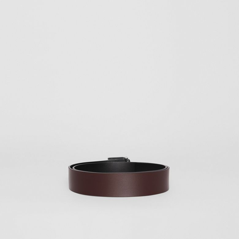 Burberry - Cinturón reversible en piel con monograma - 4