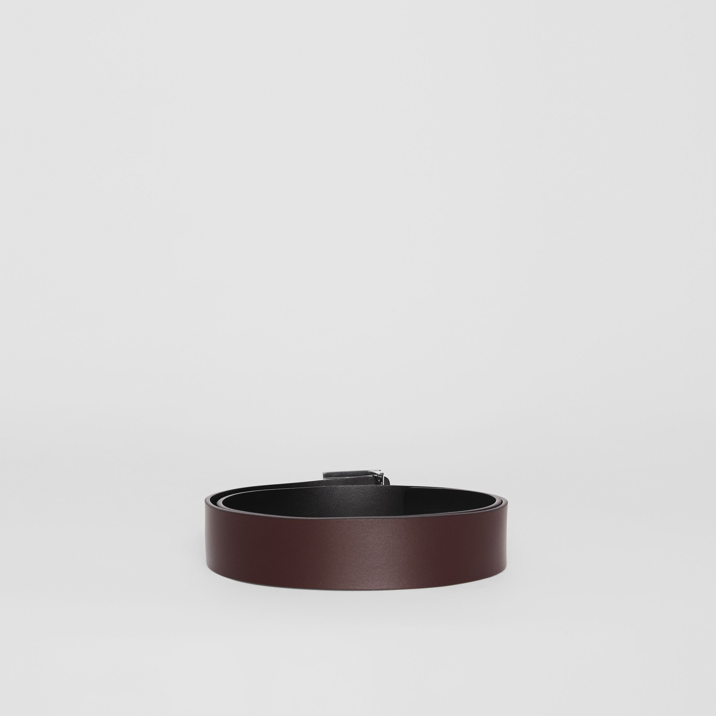 Reversible Monogram Motif Leather Belt in Oxblood - Men | Burberry United States - 4