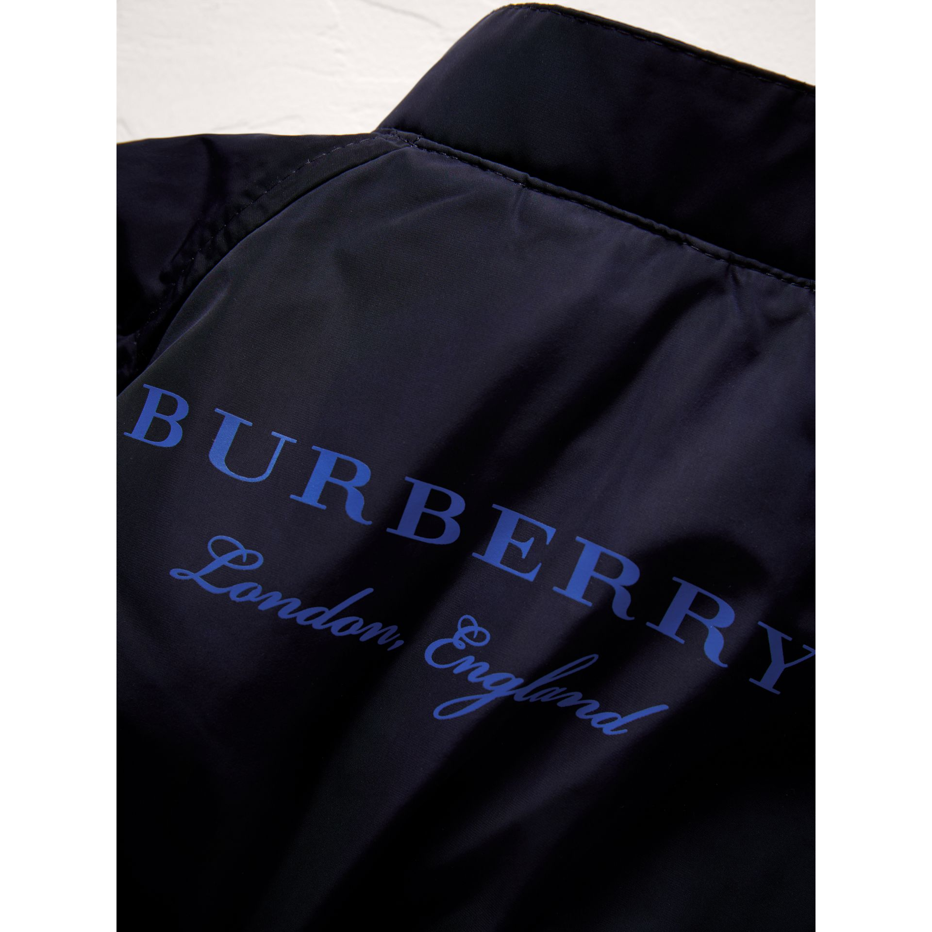 Lightweight Funnel-neck Jacket in Navy | Burberry - gallery image 1