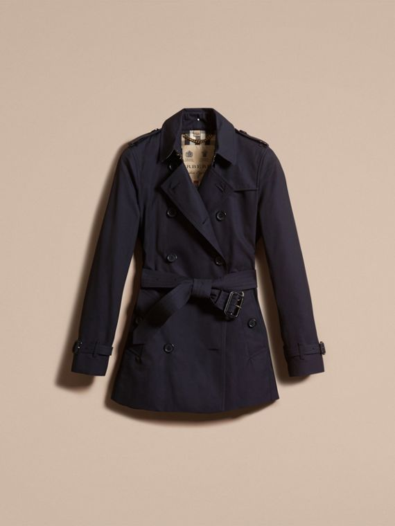 Navy The Kensington – Short Heritage Trench Coat Navy - cell image 3