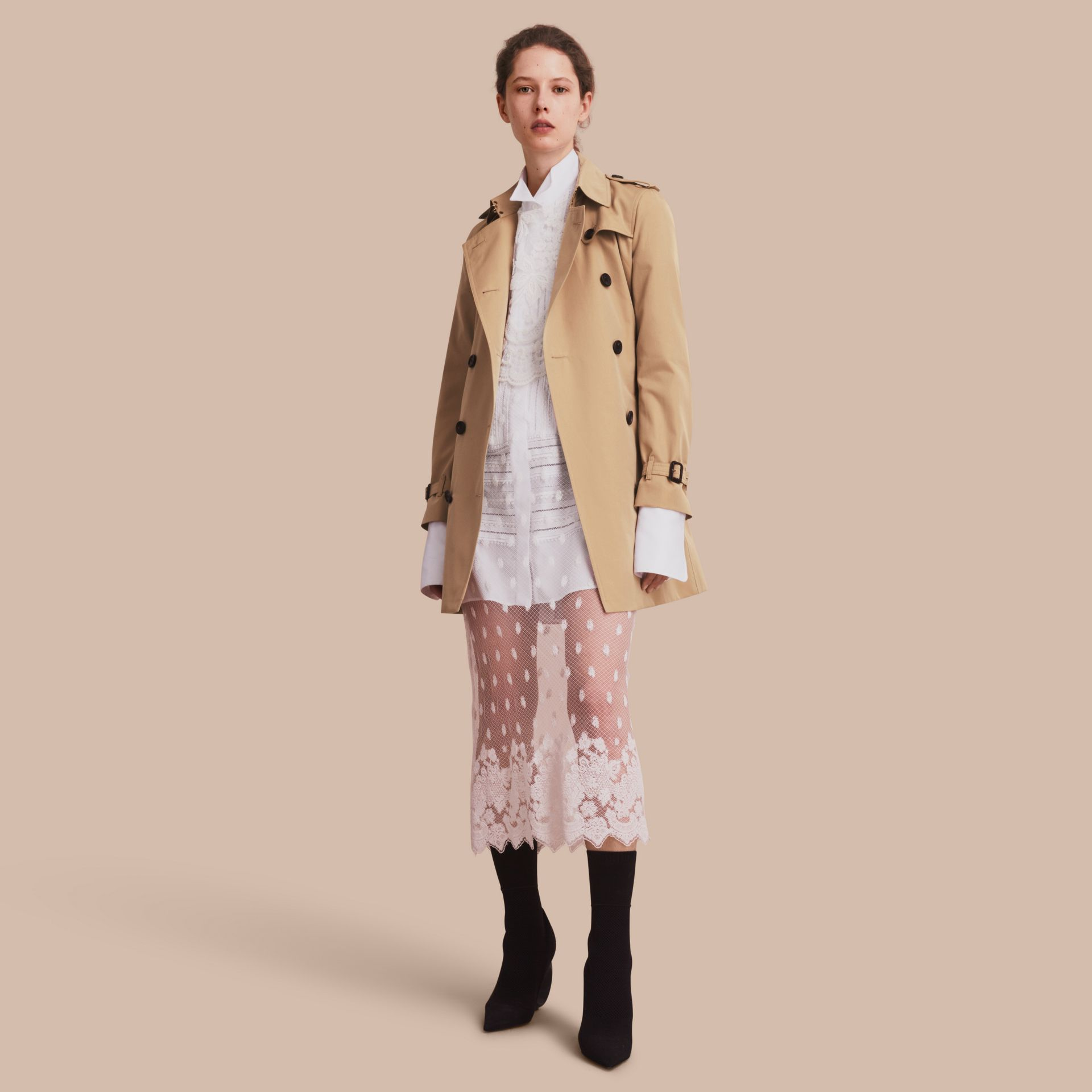 Honey The Kensington – Mid-Length Heritage Trench Coat Honey - gallery image 1