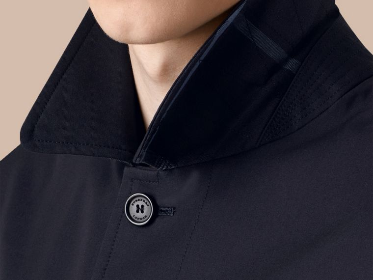 Cotton Gabardine Car Coat in Navy - Men | Burberry - cell image 4