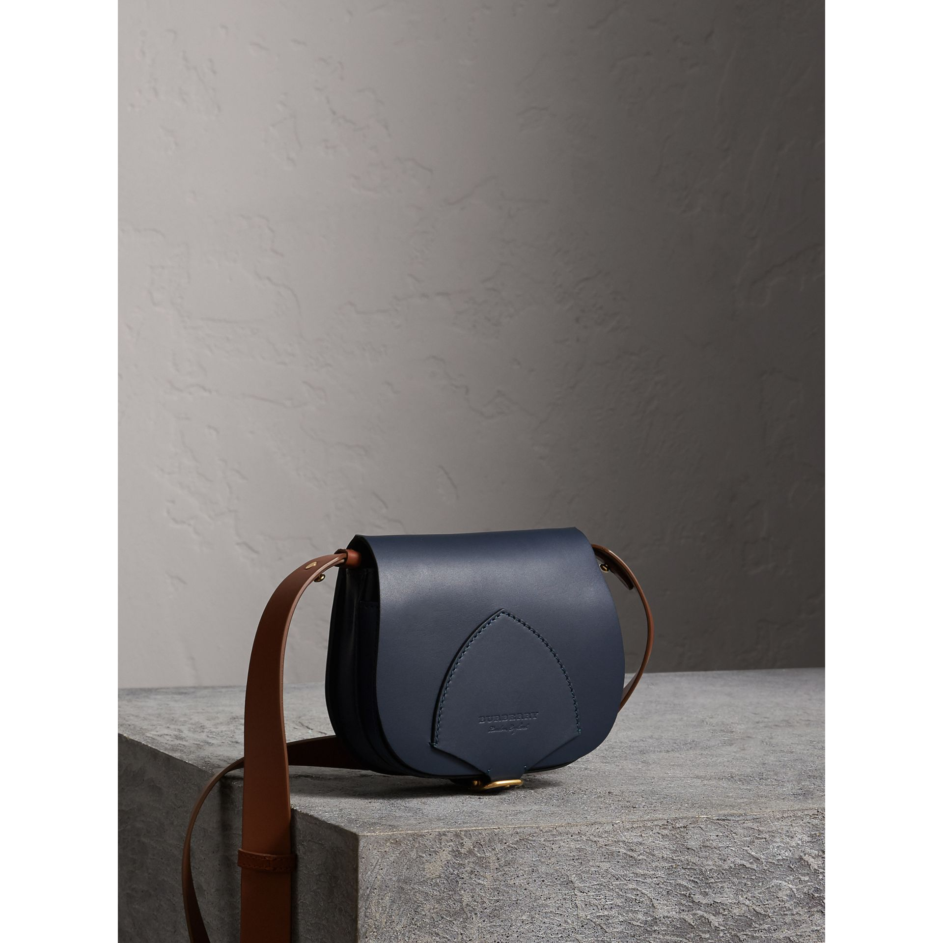 The Satchel in Leather in Indigo - Women | Burberry Australia - gallery image 6