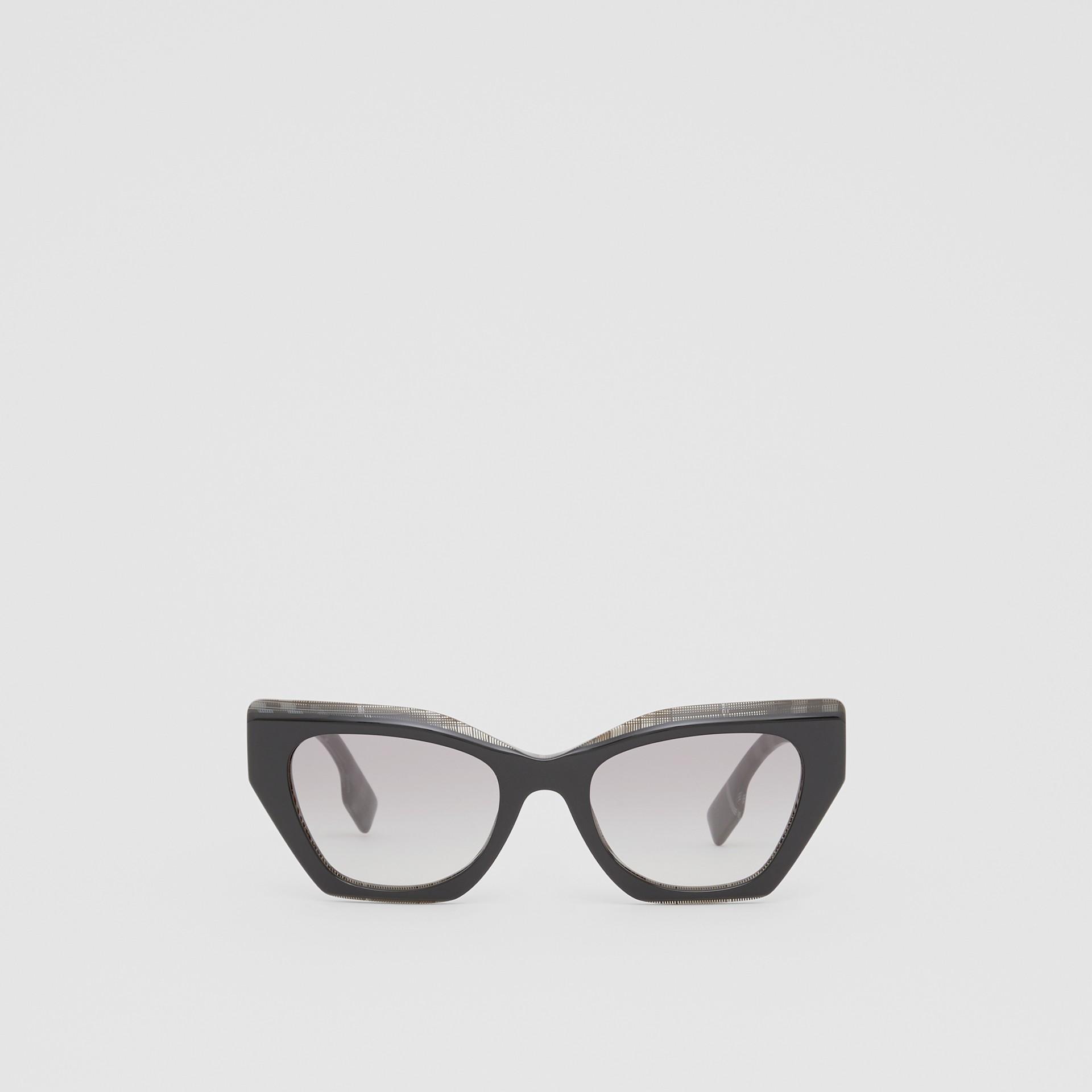 Butterfly-Sonnenbrille (Transparentes Dunkelgrau) - Damen | Burberry - Galerie-Bild 0