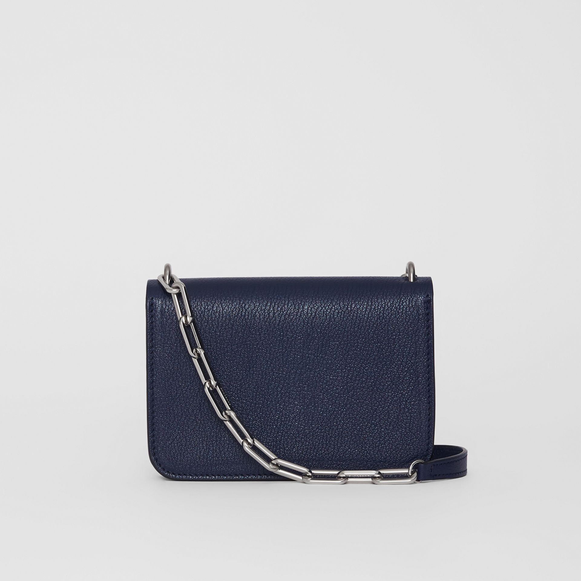 The Mini Leather Crystal D-ring Bag in Regency Blue - Women | Burberry - gallery image 7
