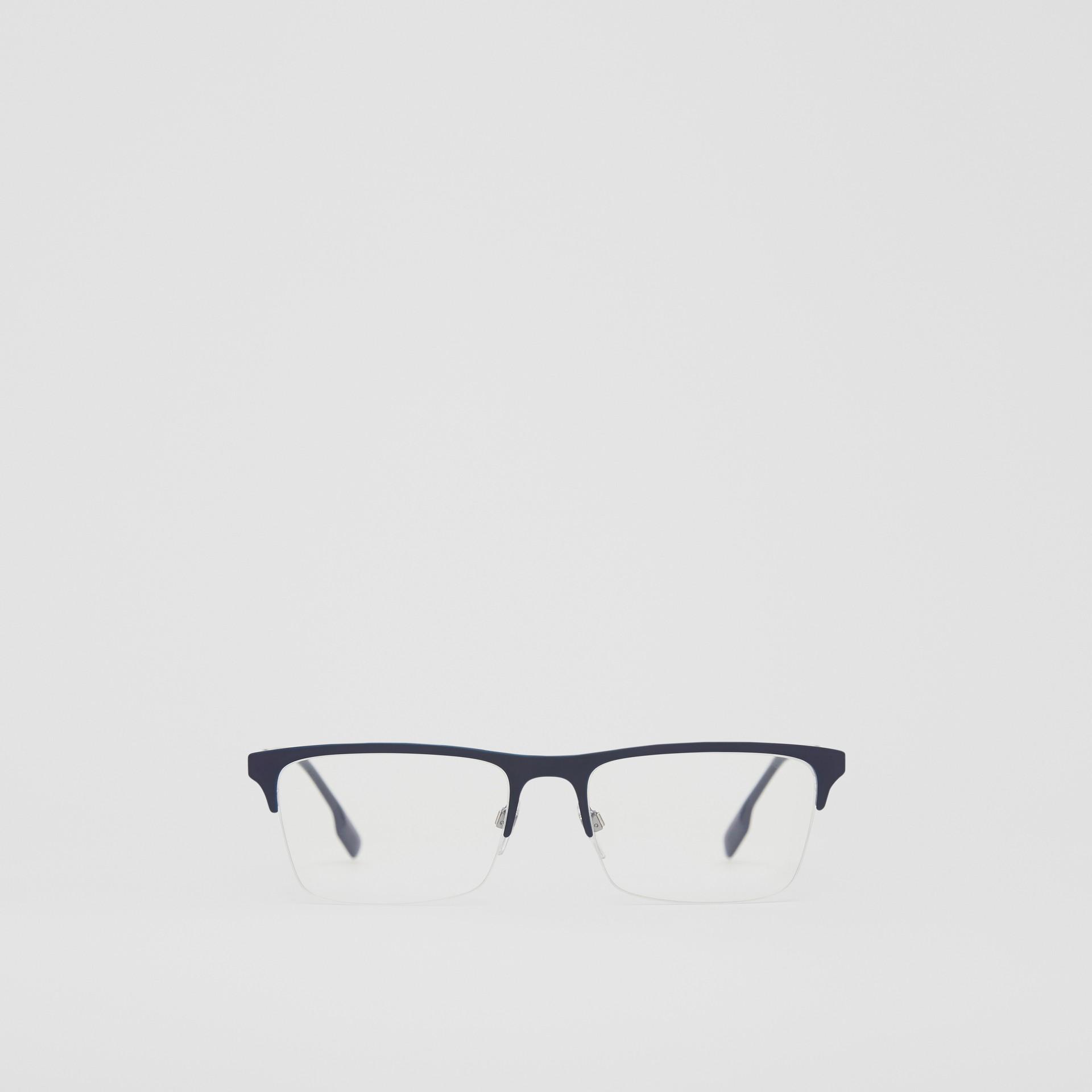 Rectangular Optical Frames in Deep Blue - Men | Burberry - gallery image 0