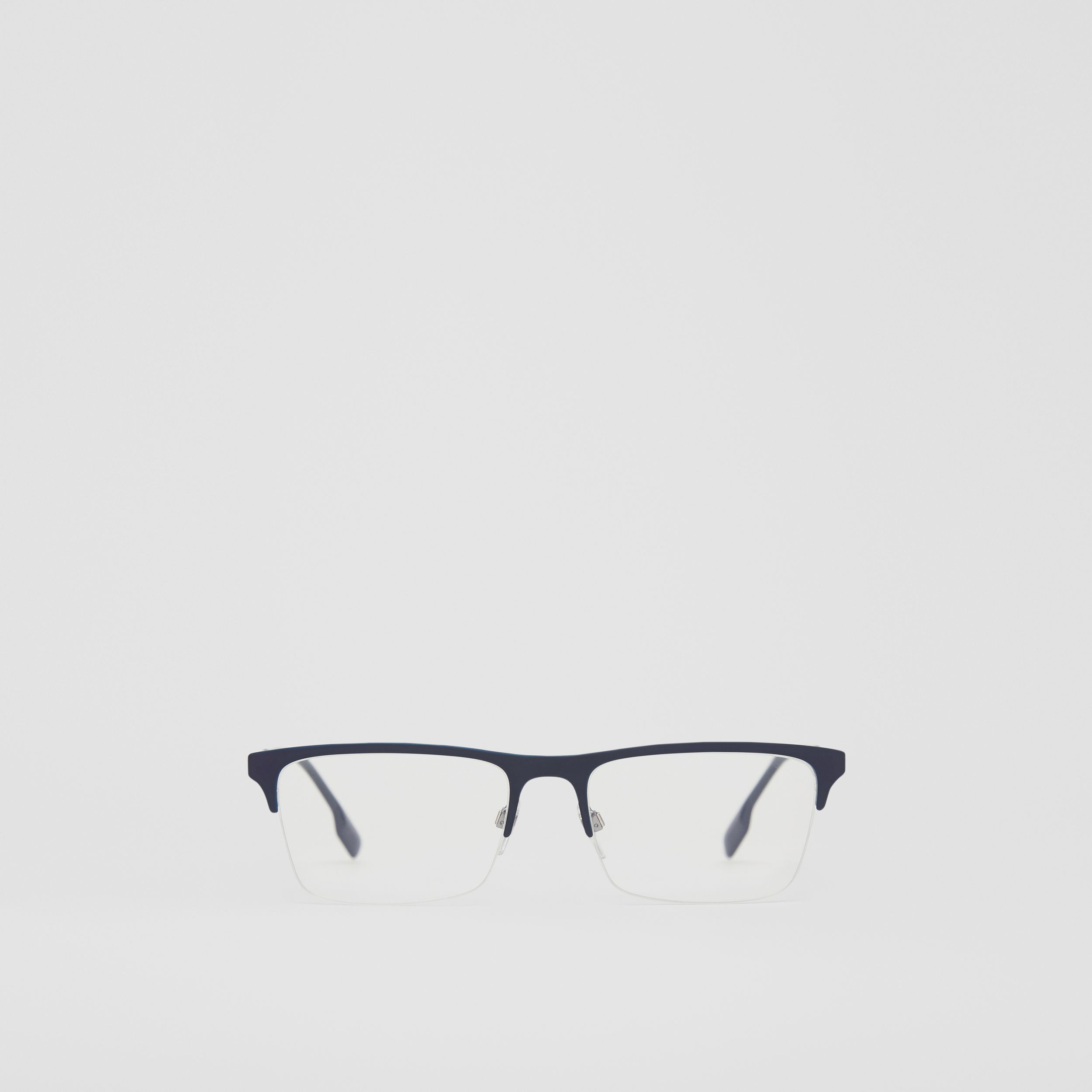 Rectangular Optical Frames in Deep Blue - Men | Burberry Australia - 1