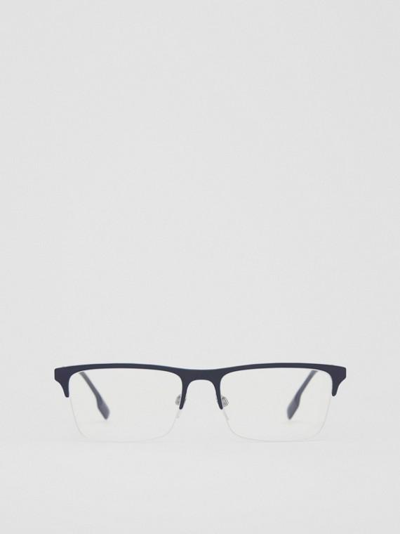 Monture rectangulaire pour lunettes de vue (Bleu Profond)