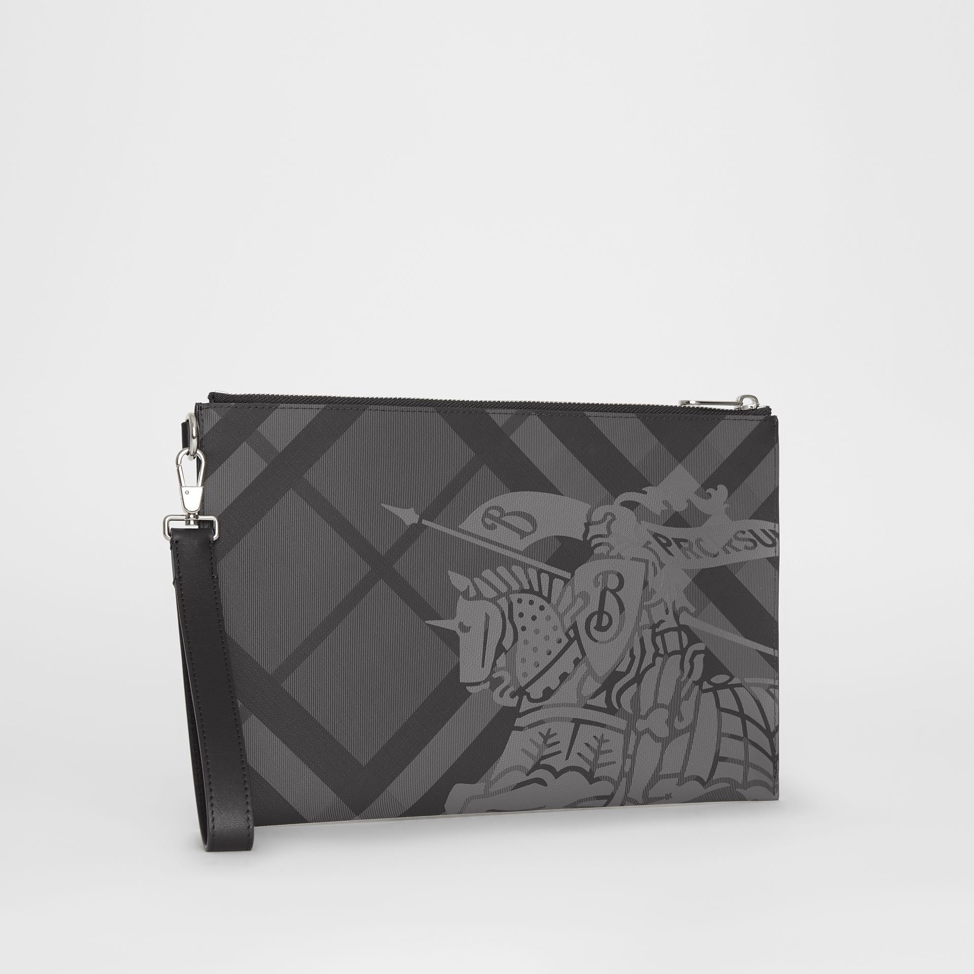 EKD London Check Zip Pouch in Charcoal/black - Men | Burberry - gallery image 5