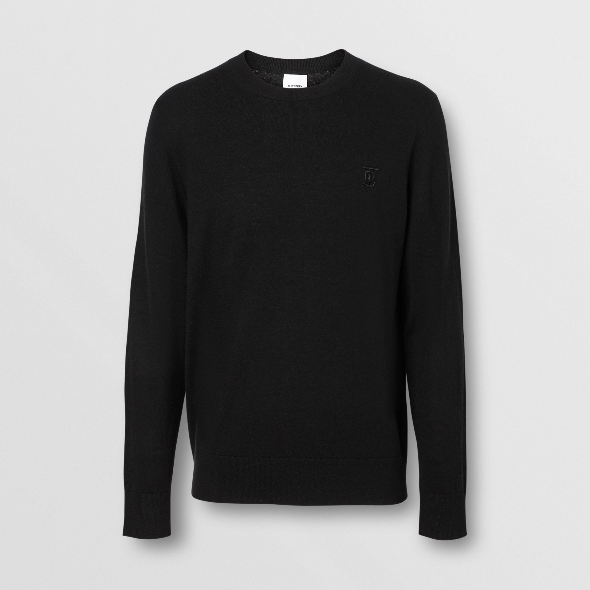 Monogram Motif Cashmere Sweater in Black - Men | Burberry - gallery image 3