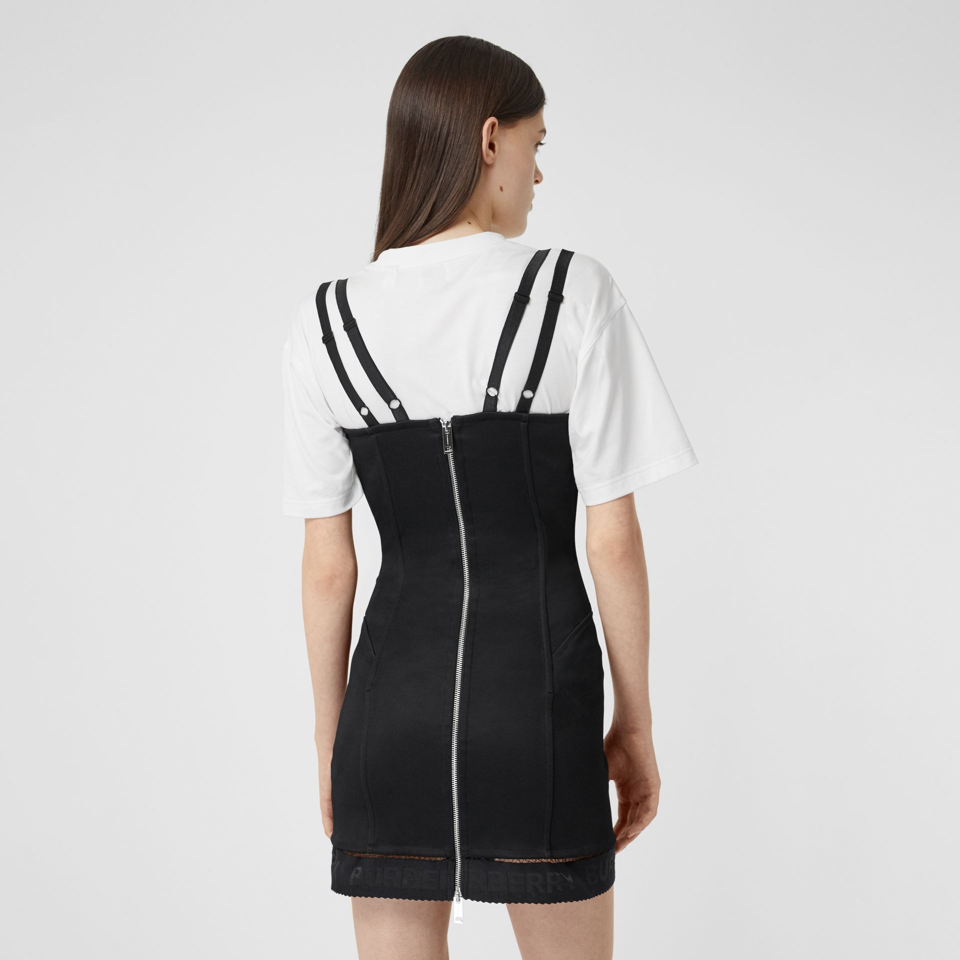 Stretch Jersey Corset Dress in Black - Women | Burberry United Kingdom - gallery image 2