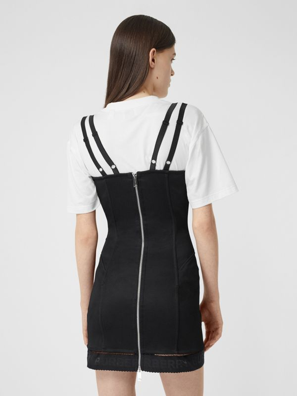 Stretch Jersey Corset Dress in Black - Women | Burberry United Kingdom - cell image 2