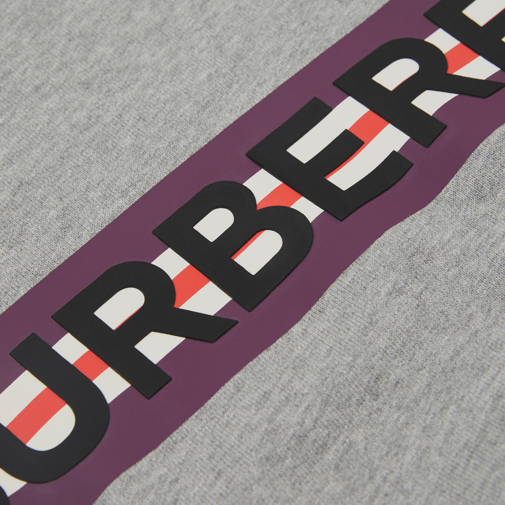 Logo Print Jersey Sweatshirt in Grey Melange - Children | Burberry United Kingdom - gallery image 1