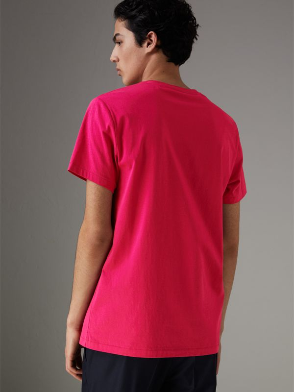 Cotton Jersey T-shirt in Bright Pink - Men | Burberry - cell image 2
