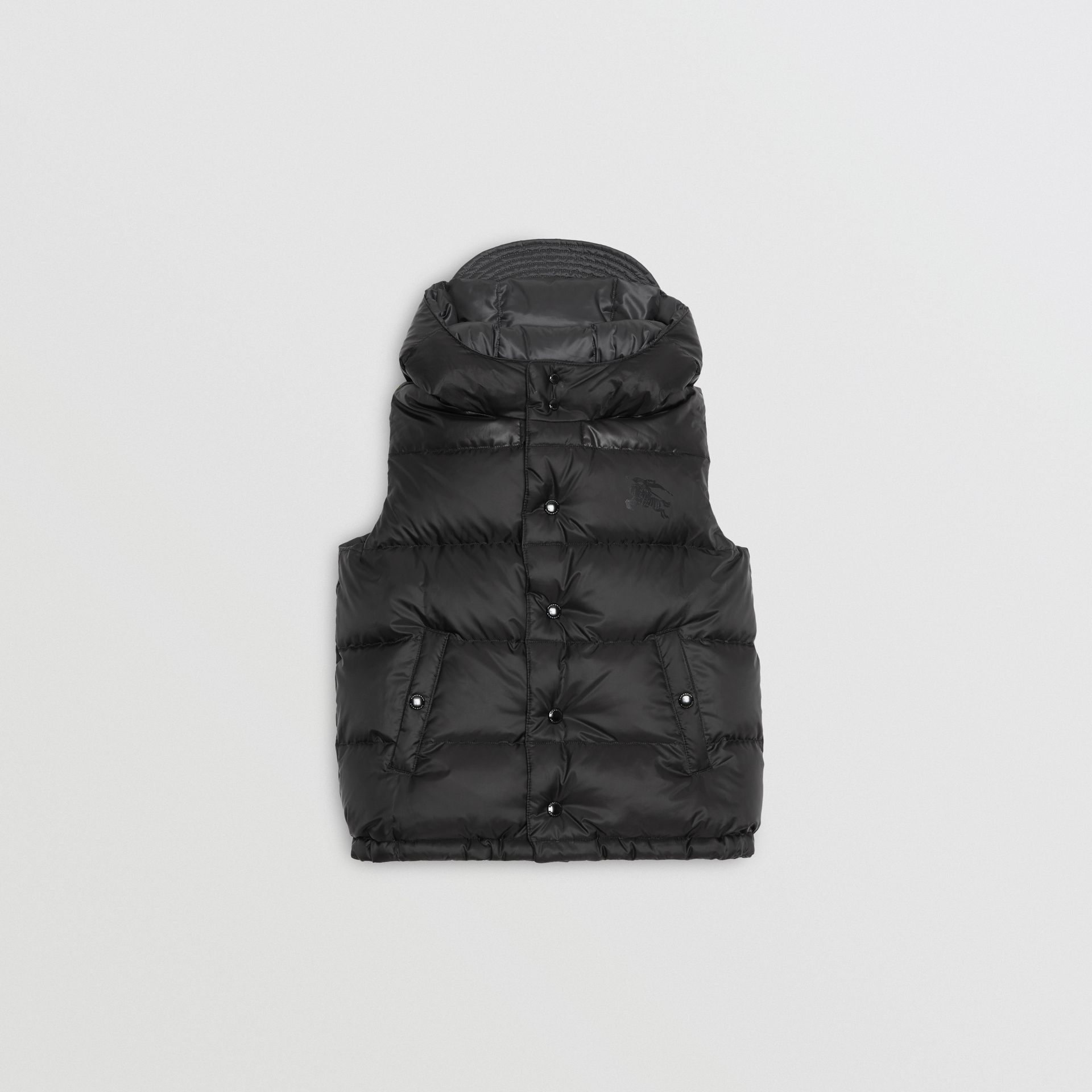 Reversible Showerproof Down-filled Hooded Gilet in Dark Grey | Burberry United States - gallery image 3