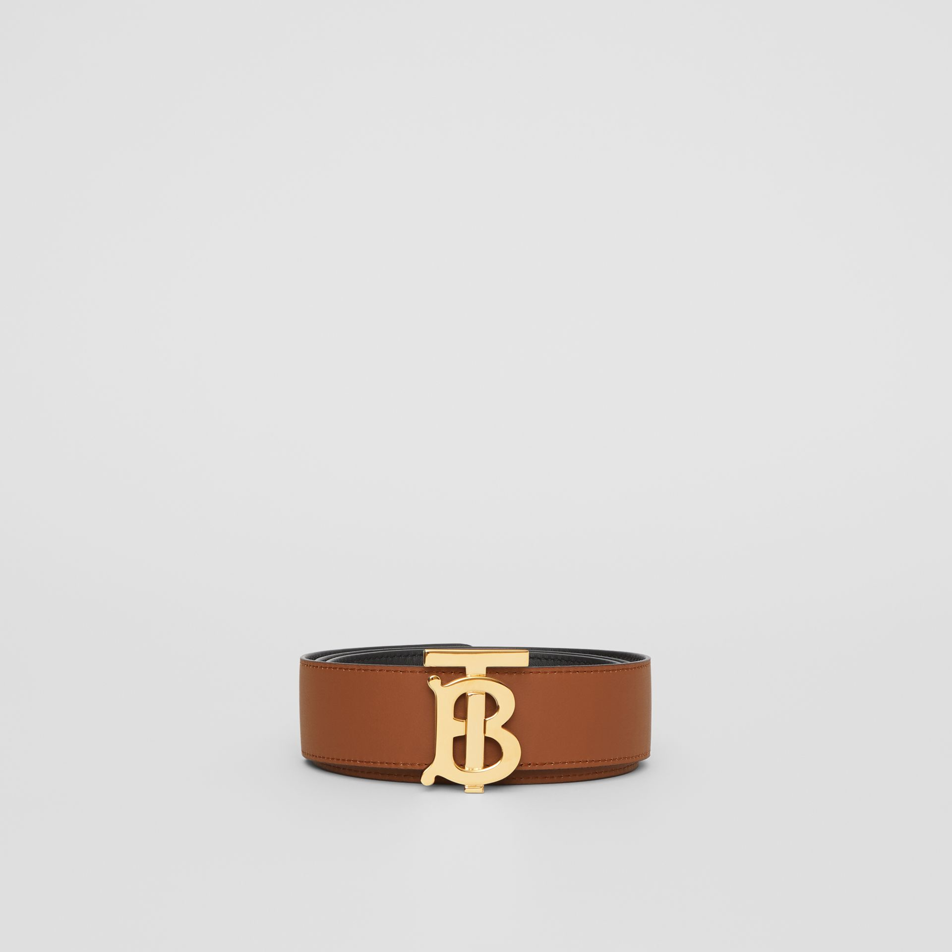 Reversible Monogram Motif Leather Belt in Black/malt Brown - Women | Burberry United Kingdom - gallery image 6